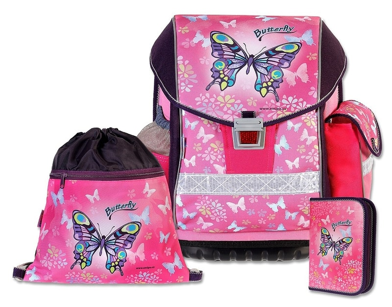 e2d457a174 EMIPO Školský batohový SET ERGO TWO Butterfly 3-dielny